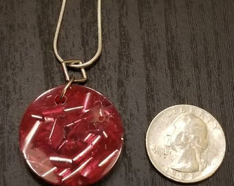 Red Coral Orgone Energy Pendant