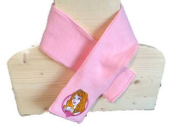 Girl pink Princess scarf
