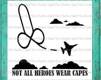 not all heroes wear capes vinyl decal