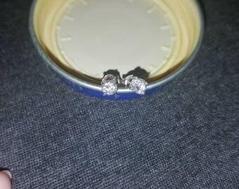 White Sapphire Earrings