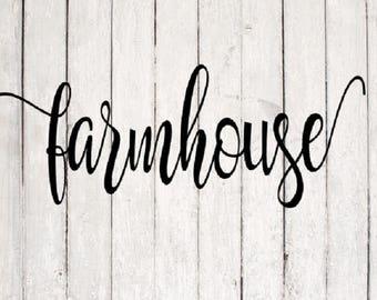 Farmhouse SVG | Farmhouse Cut File | Silhouette Files | Cricut Files | SVG Cut Files | PNG Files