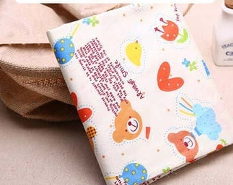 1 x coupon 50x160cm patchwork Teddy bear heart 4 sewing fabric