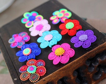 Colourful Flower Clips Toddlers & Adults Flower Clips