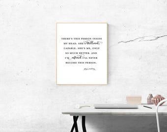 Grey's Anatomy Quote Digital Print - 8 x 10