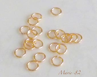 Gold - 5 X 0,70 mm rings