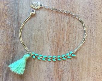 Silver plated spike bracelet