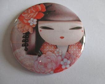 Pocket mirror round double-sided 56 mm