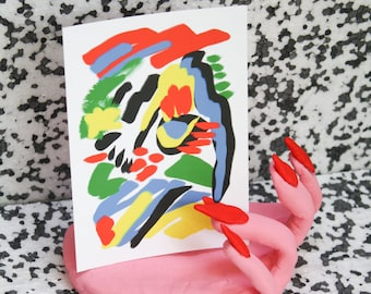 50% OFF ABSTRACT FACE Postcard
