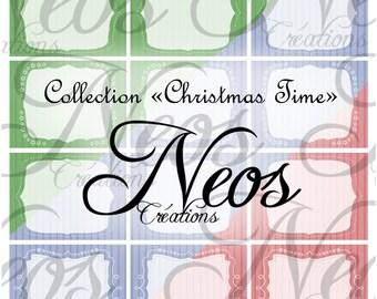 Digital tags 'Christmas Time' print