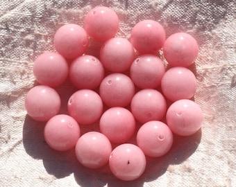 8pc - jade stone - 12mm pink coral 4558550006066 balls