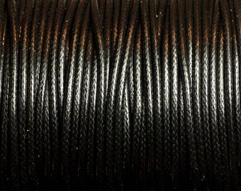 5 Metters - 2mm black waxed cotton cord - 4558550085955
