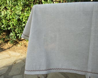 Tablecloth cotton linen 150 x 200 cm long and 4 napkins