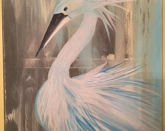 A Swan- blue & white