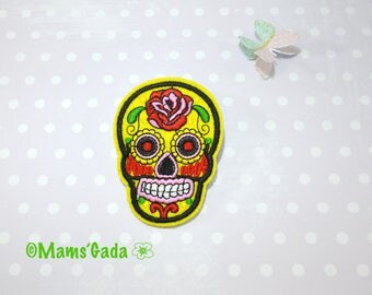 Shield Patch sewing skull of death