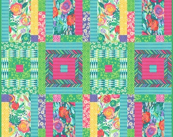 Painted Garden quilt pattern by Crystal Manning