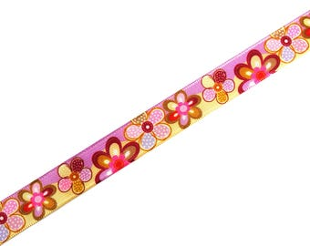 Ribbon brass flowers with a width of 16 mm X 50 cm