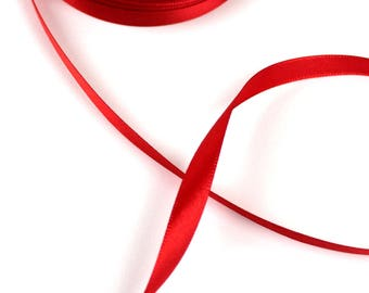 2 M 10 mm wide Red satin ribbon