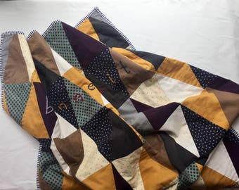 TRIANGLE DREAMS Handcrafted Quilt