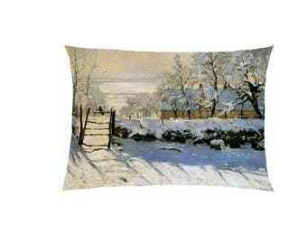Pillow in satin reproduction painting fully customizable ref 599