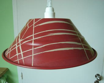 Pendant romantic cottage red and beige
