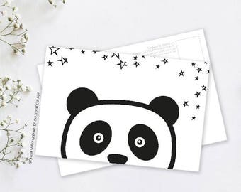Decorative postcard AYRON the PANDA