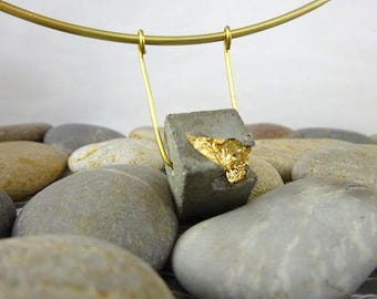 """Necklace in concrete, contemporary jewelry """"Hanging..."""""""