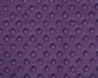Purple minky fabric with the coupon