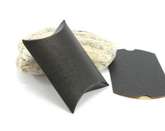 5 pouches gift form Berlingot Cartonnees - 10 x 10 - color black