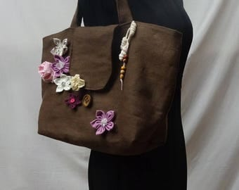Tote all sprinkled with flowers pattern unique!