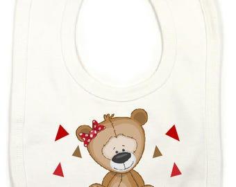 """Humor bib personalized """"little bear"""""""