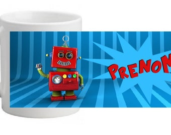 "Personalized MUG INCASSABLE ""robot"""