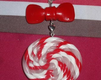 Necklace gourmet sugar with summer colors