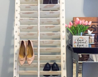 Distressed Shoe Organizer
