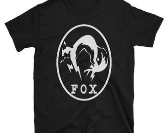 Metal Gear Online Revival MGO MGO2R Fox Animal Rank Unisex T-shirt.