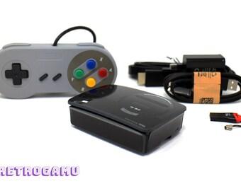 Retro Gaming Megadrive-SK PLUG N PLAY 14000+ Game Retropie Raspberry Pi 3 Bundle