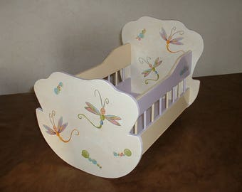 Large wooden - handmade cradle