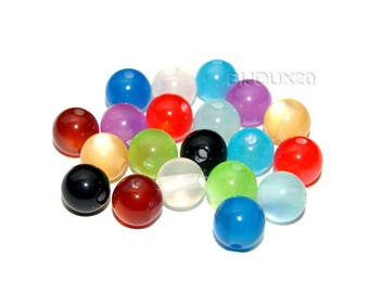 glass 8mm MIX Lot M02306 100 beads