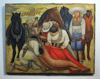 original painting signed Diego Rivera