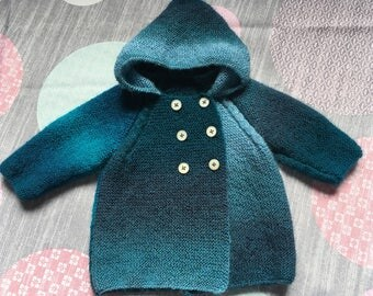 Baby crossover hooded coat