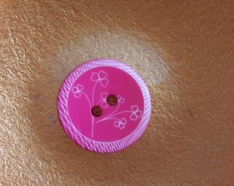 round button with shamrocks 3.5 cm in diameter