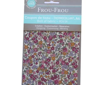 Coupon A4 RUFFLED fabric, fusible interfacing flowers liberty style