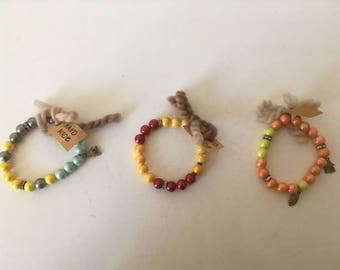 Colourful summer bracelets