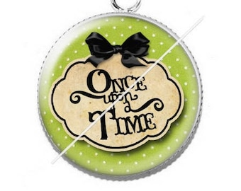 Pendentif cabochon 25mm once upon a time 10