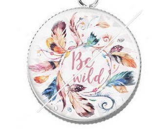 Pendentif cabochon 25mm attrapes rêves be wilde 5