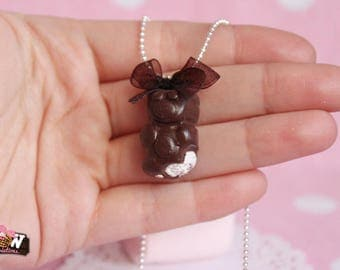 Necklace - Little ' bear Marshmallow and chocolate
