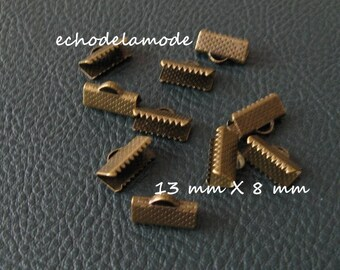 1 lot 10 tips clips claws for 13 mm X 8 mm bronze bias tape