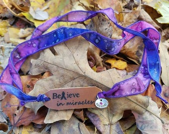 "Believe In Miracles ""survivor"" Wrap Bracelet"