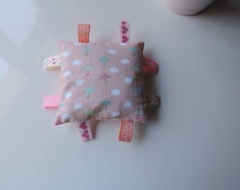 Plush pink tags