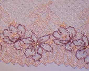 ❥ 0.5 meters wide beautiful lace pink and Purple Ribbon 180mm