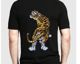 large patch back patch tiger Patch animal embroidered patch iron on patch embroidery patch iron on patches for Coat,T-Shirt,Jeans
